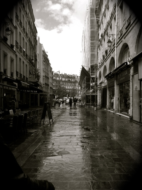 In the rainy streets of Paris